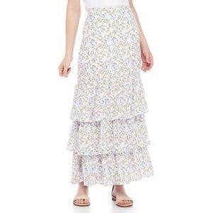3 for $25- Kaari Blue Tiered Maxi Skirt